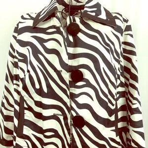 Sherry Taylor zebra stripe jacket  with pockets M
